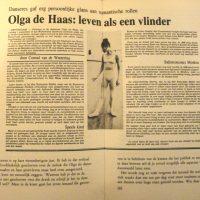 Olga de Haas, Leven als een vlinder